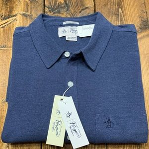 Penguin by Munsingwear Long Sleeve Navy Polo XL